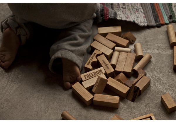 Wooden Story | Wooden Blocks Natural Peace & Love® 29 pieces