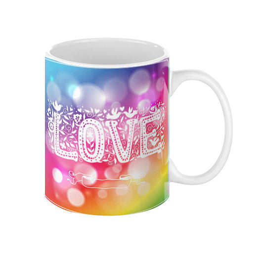 Coffee Mug With A Love Sign