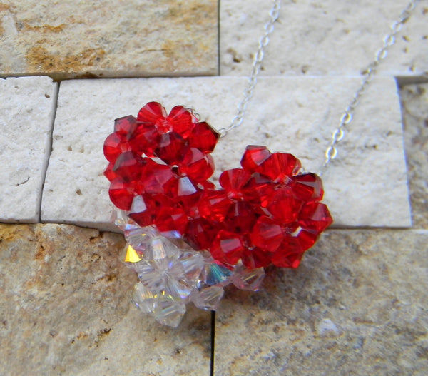 My Heart Crystal Pendant - My Heart Crystal Pendant - Crystal Red