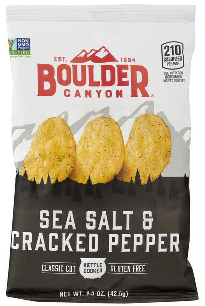 Boulder Canyon Sea Salt & Cracked Pepper Kettle Cooked Potato Chips