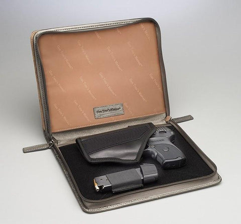 Leather CCW iPad Case - GTM -08 - Concealed Carry Handbags - CCW Purses - GunTotenMamas