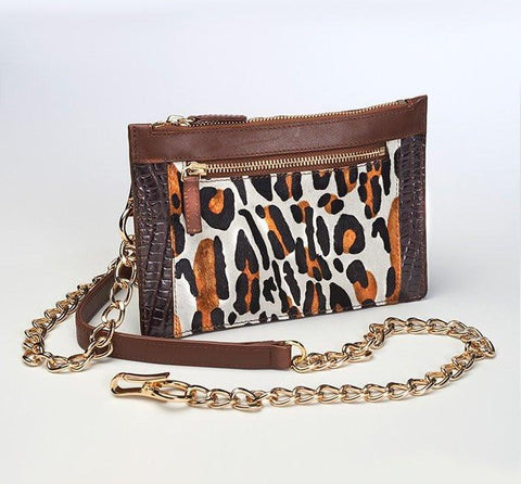 GTM-29 Leopard Print Chained Wallet (Limited Edition) - Concealed Carry Handbags - CCW Purses - GunTotenMamas