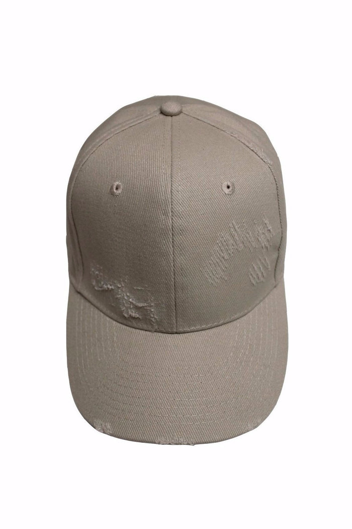 Distressed Cap - Stone
