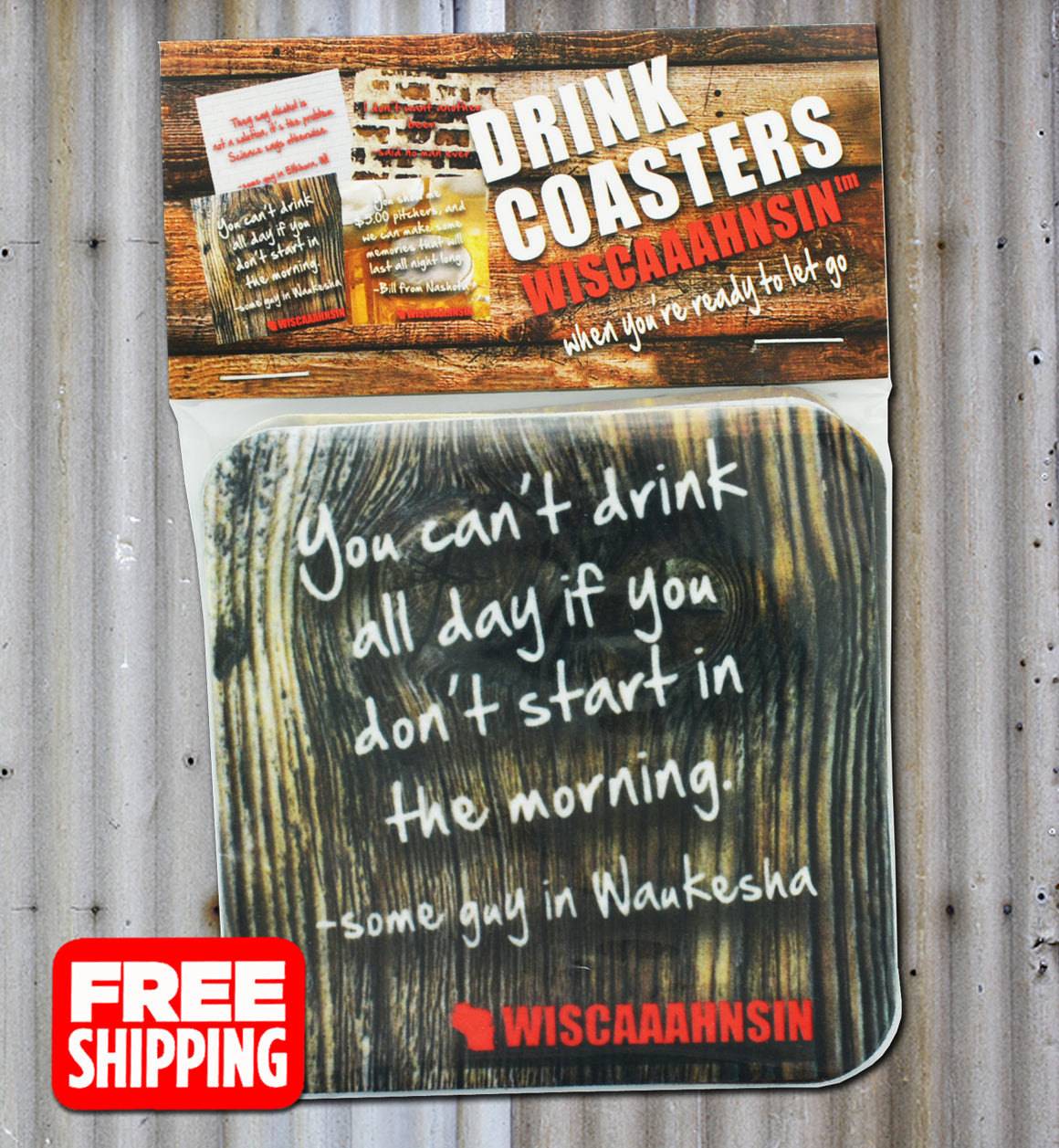 WISCONSIN COASTERS - FREE SHIPPING!