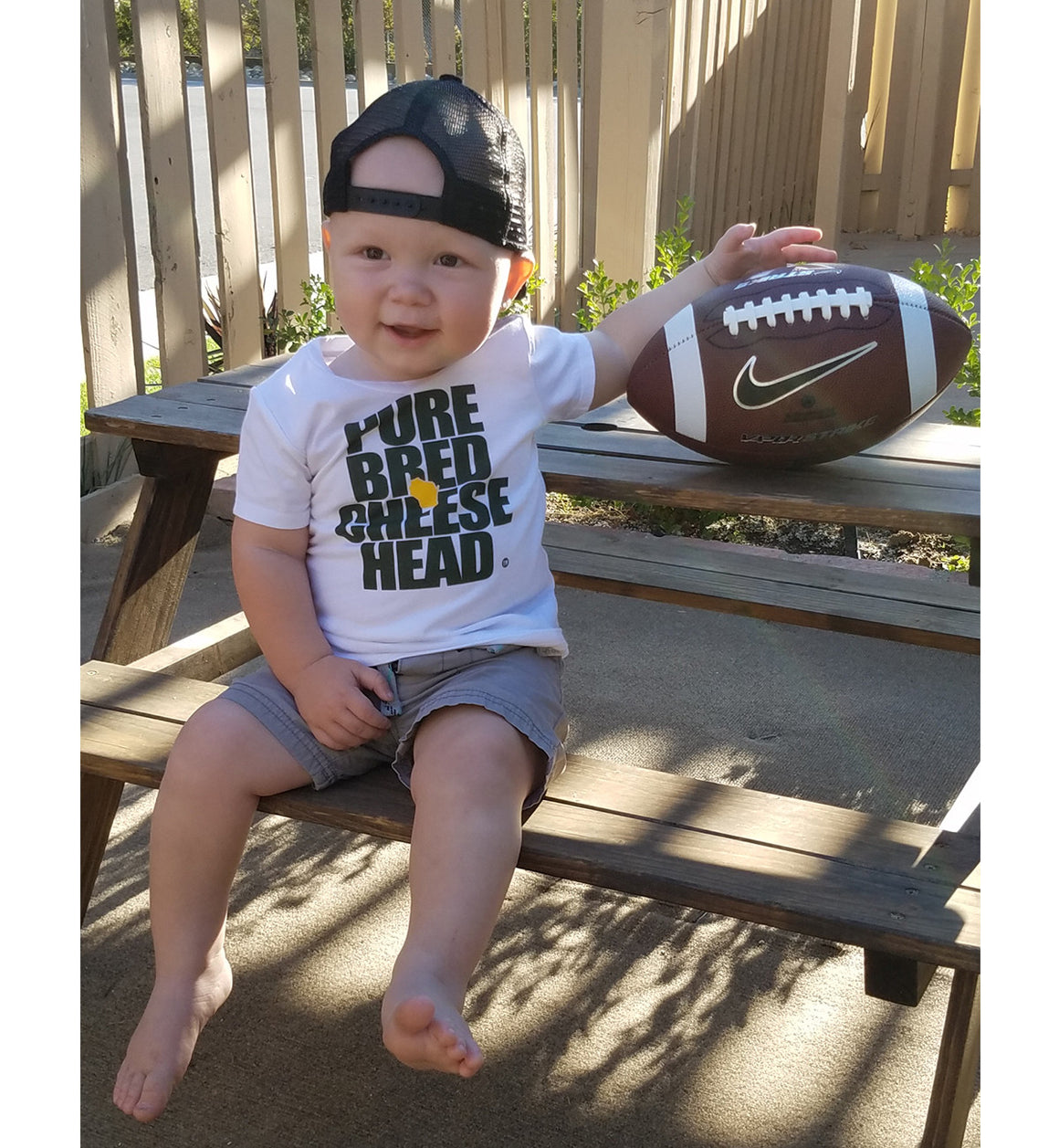 toddler cheesehead t-shirt