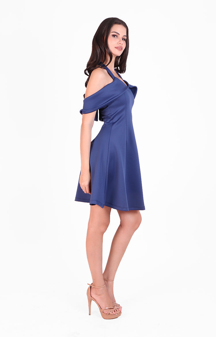 Sabrina Dress in Navy Blue