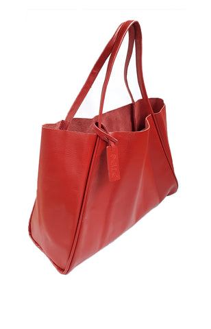 Pelle Tote in Red