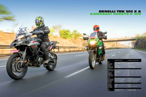 Fast Bikes India-TRK 502k vs Versys-x 300 (Limited Edition) | Poster