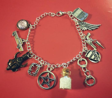 Supernatural Stainless Steel Charms Bracelet - Bracelet - Supernatural-Sickness - 1