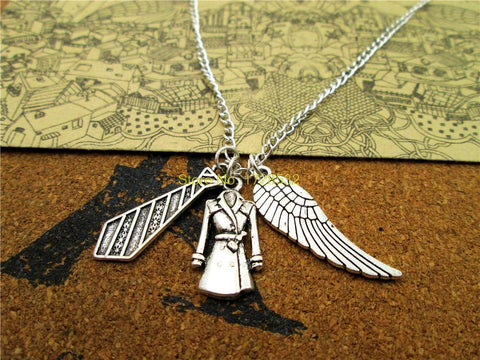 Castiel Silver Charms Necklace - Necklace - Supernatural-Sickness
