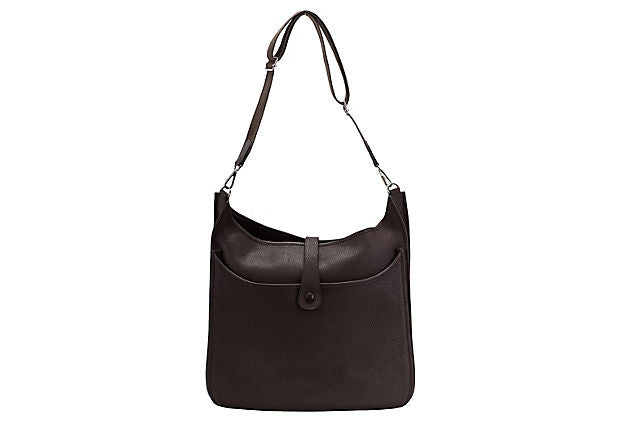 Hermès Maxi Chocolate Brown Evelyne Bag