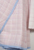Half Half Checkered Cotton Saree