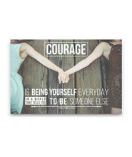 Load image into Gallery viewer, Courage LGBT Canvas Print Art