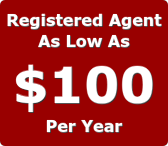 registered agent service as low as 100 dollars per year