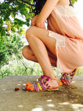 "Peace and Love "" Boho sandals"