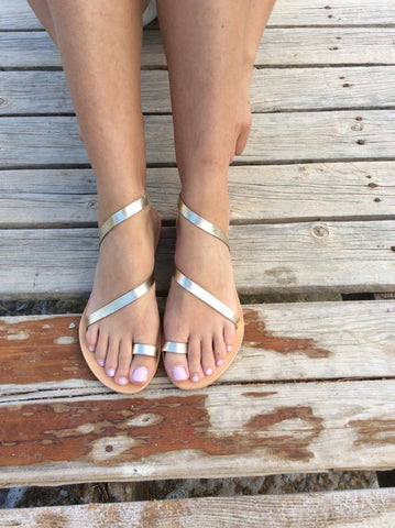 Strappy Silver Slip On - art of shop  - 1