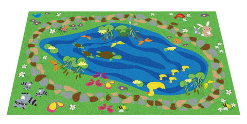 Nature All Around Us Kids Rug (small size)