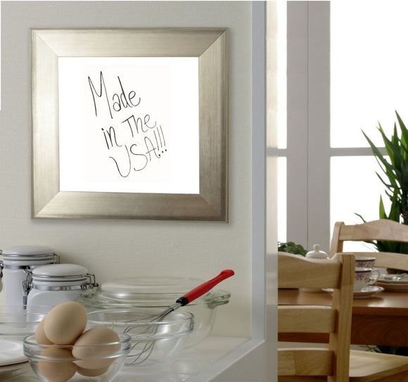 American Made Rayne Brushed Silver Dry Erase Board (W04) *Suggested Retail*