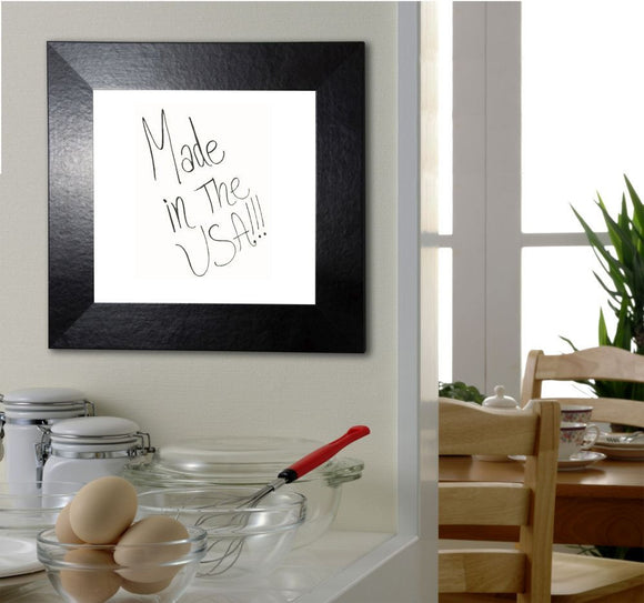Rayne Mirrors Black Wide Leather Dry Erase Board