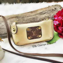 Roxie Upcycled LV & Metallic Gold Leather Crossbody