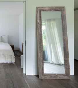 Coastal II Distressed Gray Driftwood Mirror - Classy Mirrors