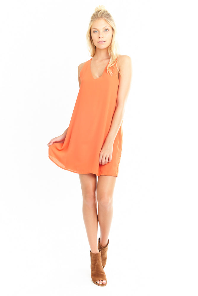V Neck Sleeveless Sheath Dress, Dresses