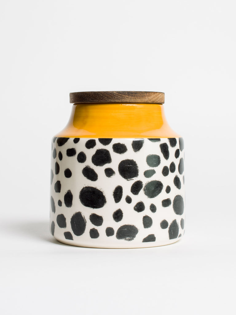 Cheetah Storage Jar