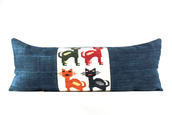 Abstract Cats Pillow  Large Lumbar
