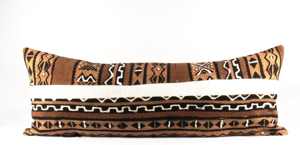 mixed African mud cloth pillow