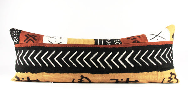 Mixed arrows African mud cloth pillow