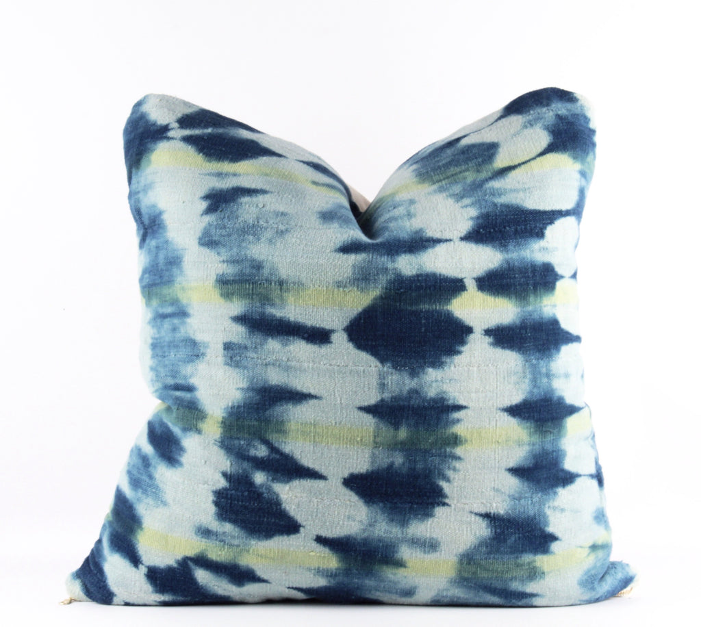 Blue Shibori Mudcloth Pillow  20