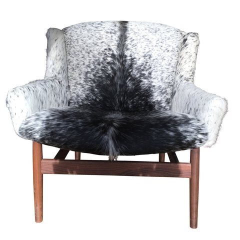 Early Jens Risom Cowhide Lounge Chair front