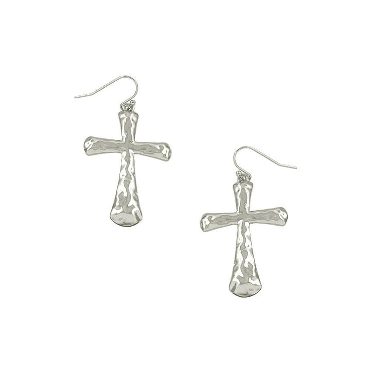"*[E/R]-Simple Hammered Solid Cross Earrings - jewelz by julz...""The Collection!"""