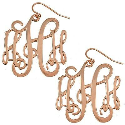"*[E/R]-Monogram Earring ~H~ Rosegold Finish - jewelz by julz...""The Collection!"""