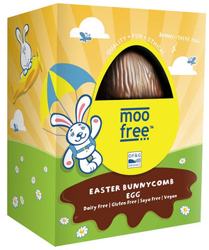Moo Free Dairy Free Bunnycomb Easter Egg 120g - SALE