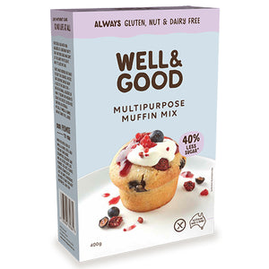 Well and Good Multi purpose Muffin Mix – Gluten, Nut & Dairy Free