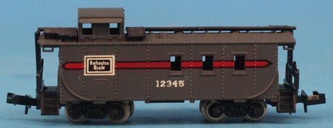 Life-Like N Gauge Burlington Route #12345 Model Caboose Car #LEC29U