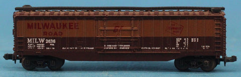 N Gauge The Milwaukee Road MILW #2636 Model Box Car Boxcar #OMC72U