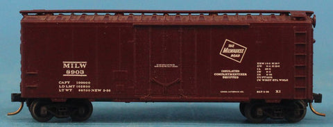 N Gauge The Milwaukee Road MILW #8903 Model Box Car Boxcar #OMC73U
