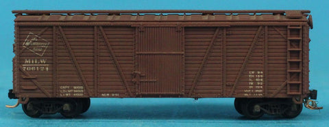 N Gauge The Milwaukee Road MILW #706121 Model Box Car Boxcar #OMC74U
