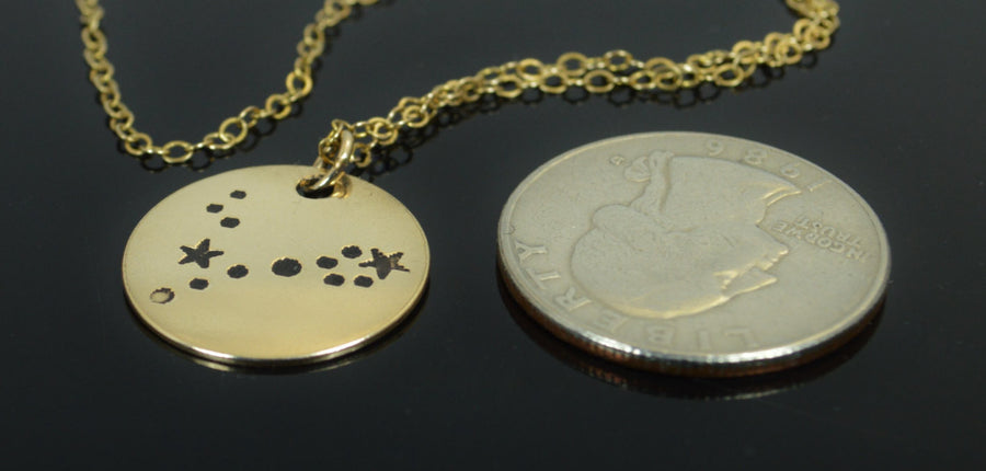 Gold Filled Pisces Necklace