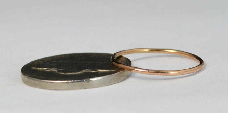 Thin Round 14k Rose Gold Filled Stackable Rings