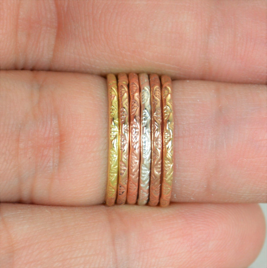 V Stamp Stacking Rings - G13