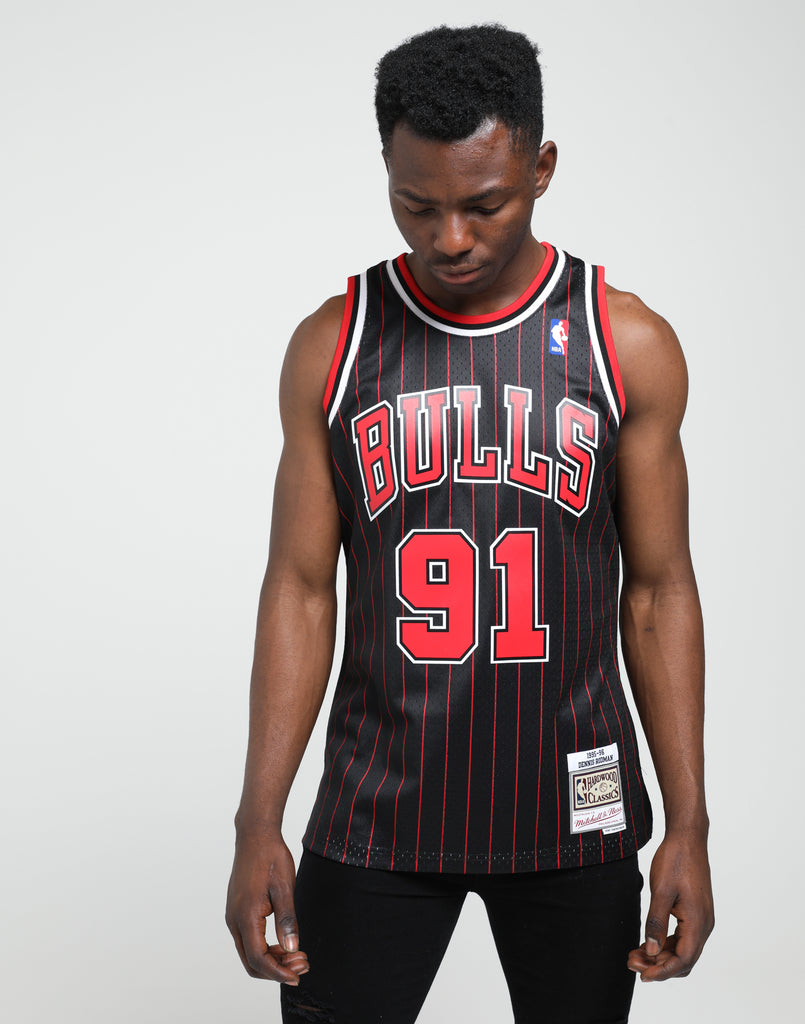 factory authentic fdf5b 1c28c Mitchell & Ness | Chicago Bulls Dennis Rodman #91 NBA ...