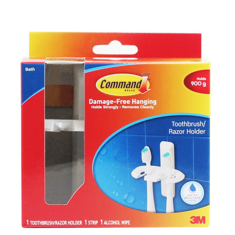 Command™ 17621B Toothbrush Holder - 1HomeShop.sg