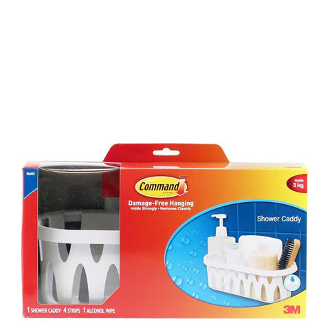 Command™ 17624B White Shower Caddy - 1HomeShop.sg
