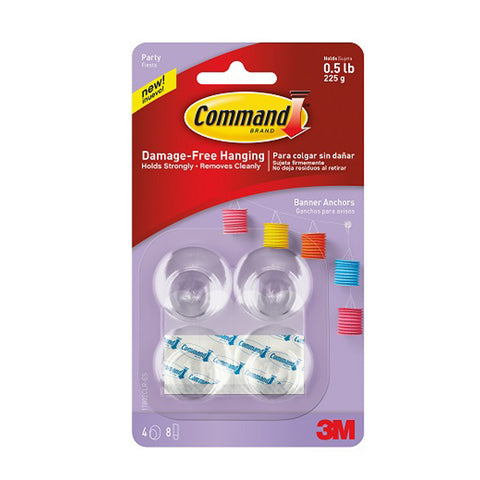 Command™ 17802CLR Party Banner Anchors - 1HomeShop.sg