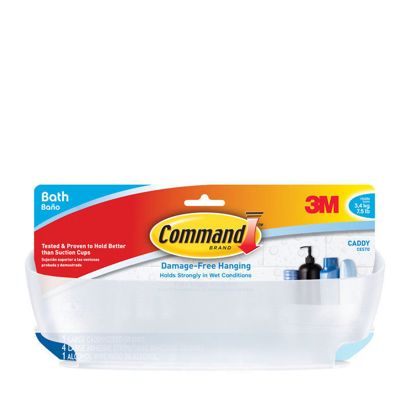 Command™ BATH11-ES Shower Caddy with Water-Resistant Strips - 1HomeShop.sg