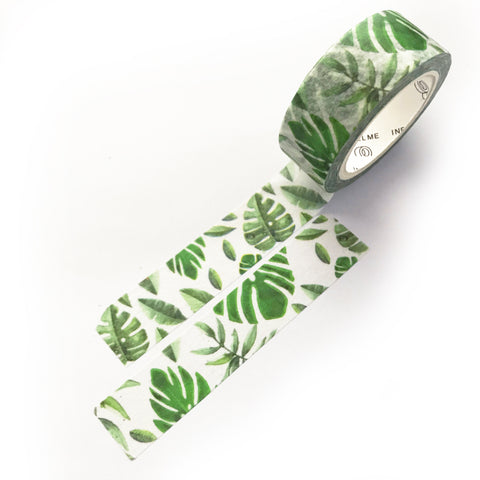 7m x 15mm Tropical Foliage Washi Tape - SweetpeaStore