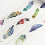 Watercolour Feather 15mm Washi Tape - SweetpeaStore